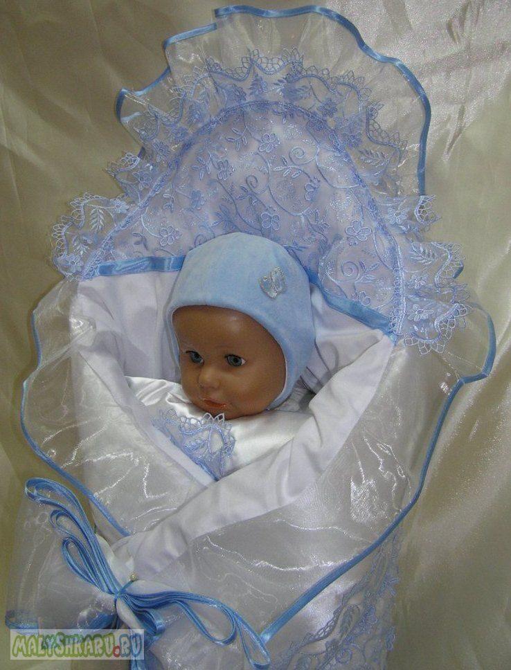 Нарядный пододеяльник для новорожденного своими руками