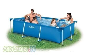 Каркасный бассейн Intex Metal Frame Pool 300x200x75 58981 / 28272