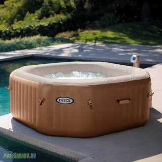 СПА-бассейн Intex 28414 PureSpa Bubble Massage 201x71