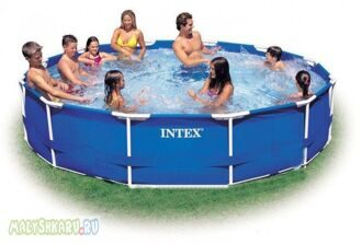 Каркасный бассейн Intex Metal Frame Pool 366x76 56994/28210