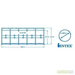 Каркасный бассейн Intex 26326 Ultra XTR Frame размер 488x122 см