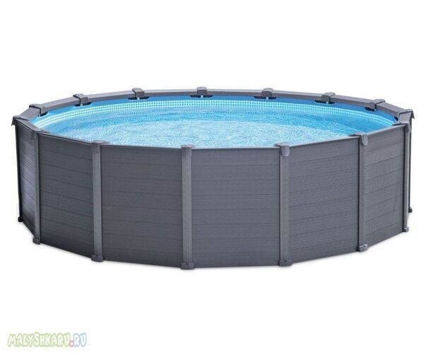 Каркасный бассейн Intex 26382 Graphite Panel Pool 478x124