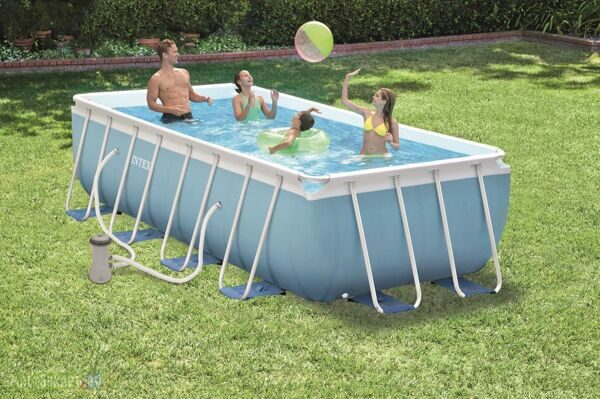 Каркасный бассейн Intex 28318 Prism Frame Pool 488x244x107