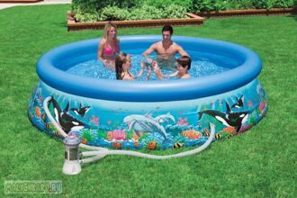 Надувной бассейн Intex Ocean Reef Easy Set Pool 366x76 54906
