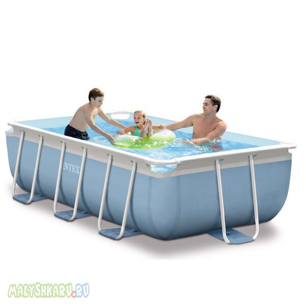 Каркасный бассейн Intex 28314 Rectangular Prism Frame Pool 300x175x80