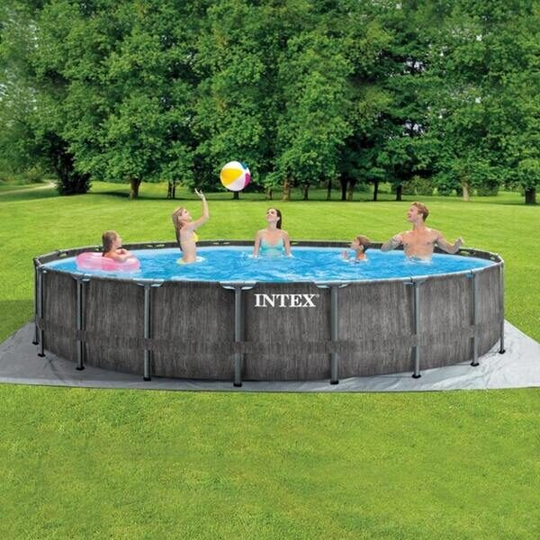 Каркасный бассейн Intex 26744 GreyWood Prism Frame Pool 549x122 см