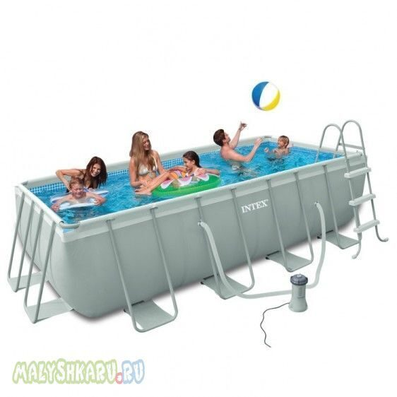 Каркасный бассейн Intex 28350 Ultra Frame Pool 400x200x100