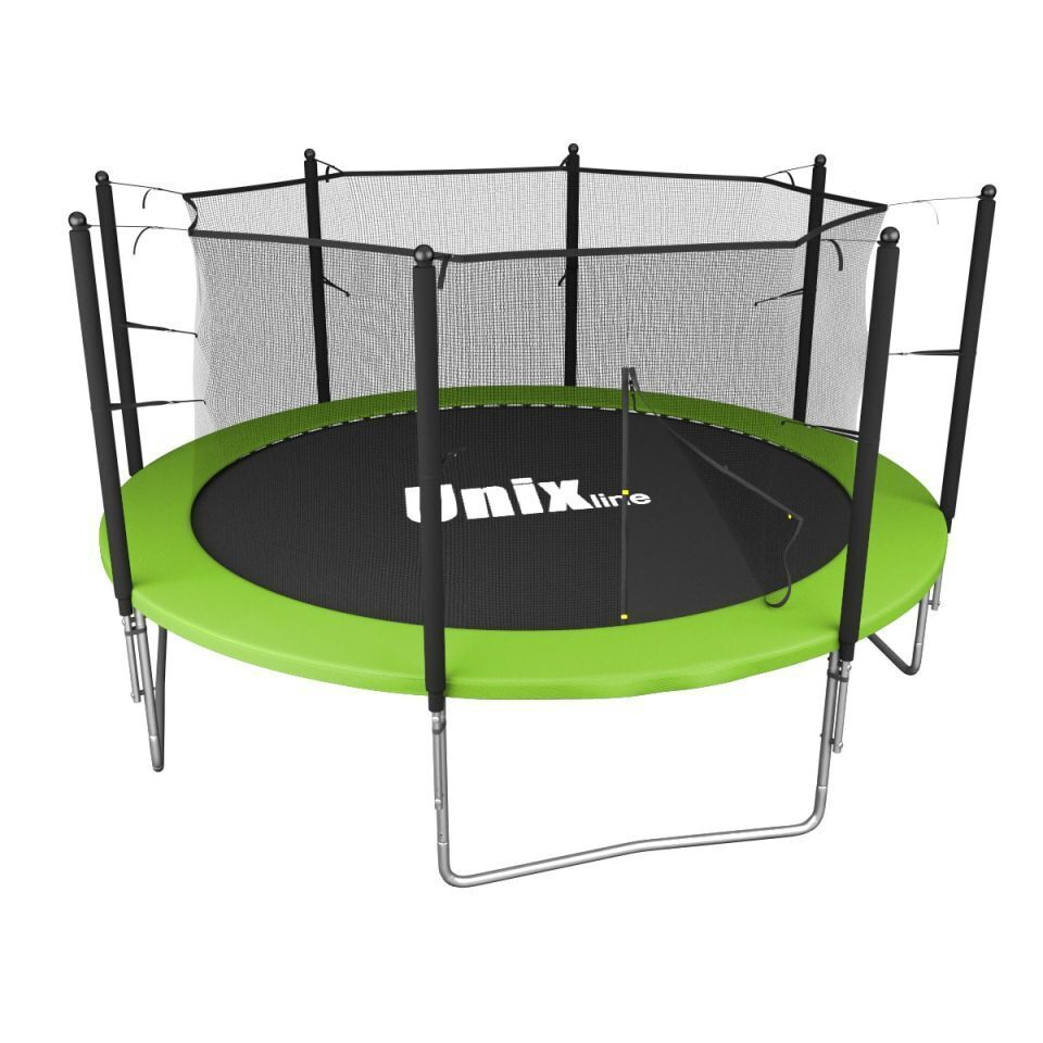 Батут уличный Unix line Simple 12 ft inside Green диаметр 366 см