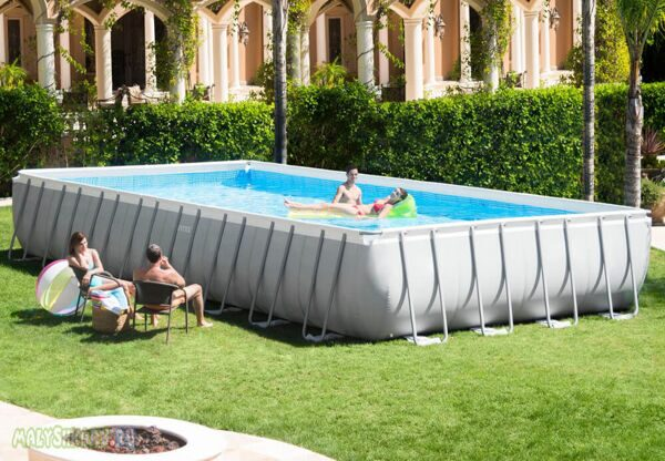 Каркасный бассейн Intex Rectangular Ultra Frame Pool 975x488x132 28372